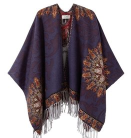 Desigual Reversible Tapestry Poncho