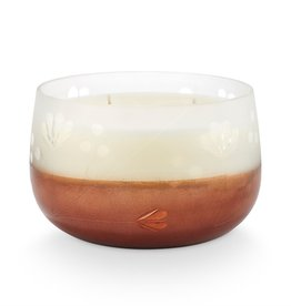 Illume Copper Leaves Gilded Glass Candle