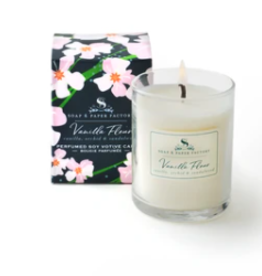 Soap & Paper Factory Vanilla Fleur 2.4 oz Perfumed Soy Votive Candle