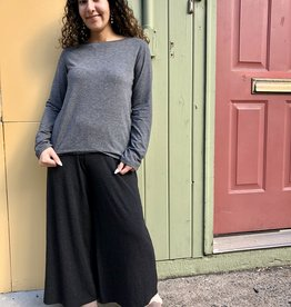 Cut Loose Cropped Pant - Char Jersey