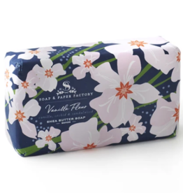 Soap & Paper Factory Vanilla Fleur 5 oz Shea Butter Soap Bar