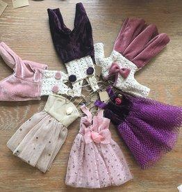 "Creative Co-op 6 1/2"" Velvet Outfit on Hanger Ornament"