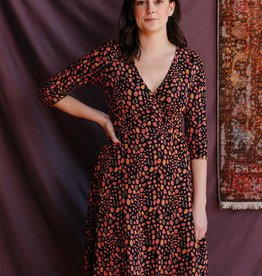 Mata Traders Callie wrap Dress Long Sleeve