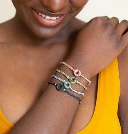 Lucia's Imports Macrame Jade Karma Bracelet