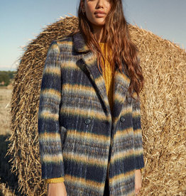 Desigual Stripe Blanket Coat