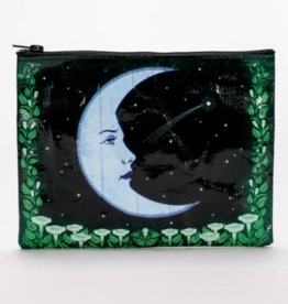 Blue Q Moon Zipper Pouch