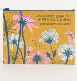 Blue Q Wildflowers Stand Zipper Pouch