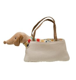 "Creative Co-op 11""L Dachschund In Dog Carrier"