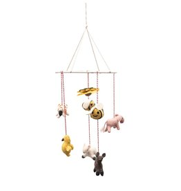 "Creative Co-op 10""L x 7""W x 25""H(approx.) Wool Felt Farm Animal Mobile"