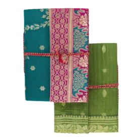 Matr Boomie Nityagata Silk Sari Journal- Assorted