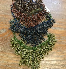 Dunitz & Company Glass Seed Bead 'Coral' Necklace