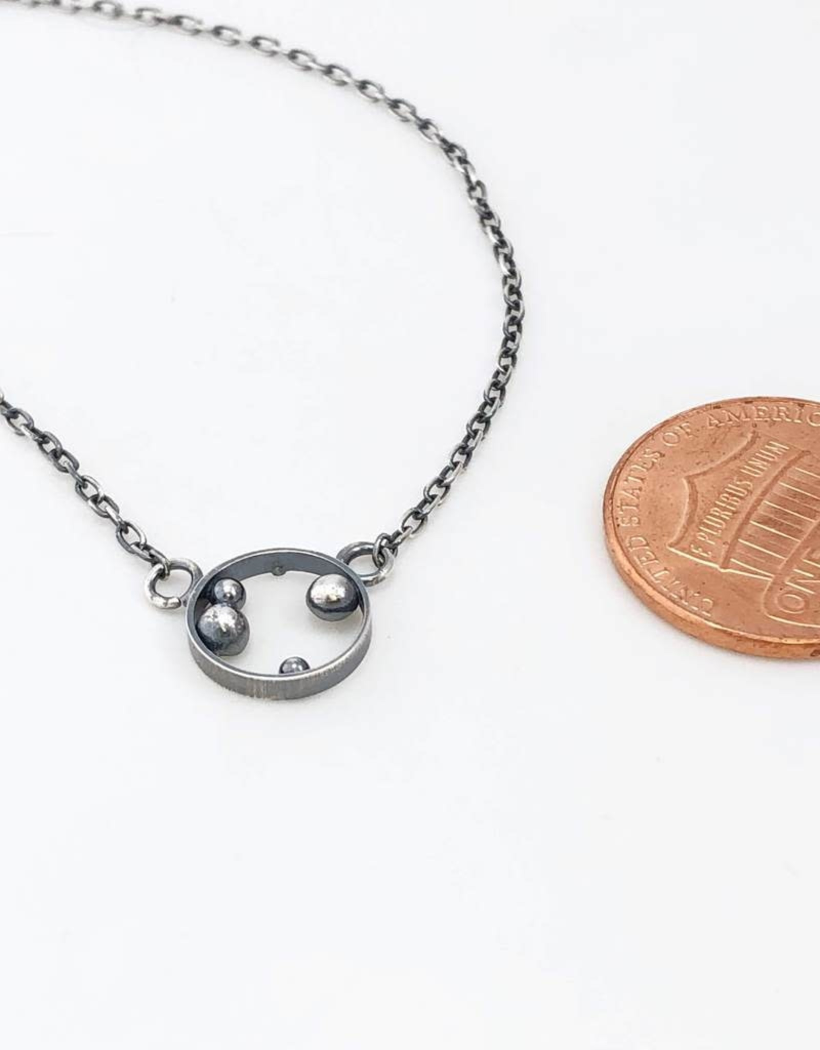 Ginger Meek Allen Container Necklace- Oxidized Sterling Silver