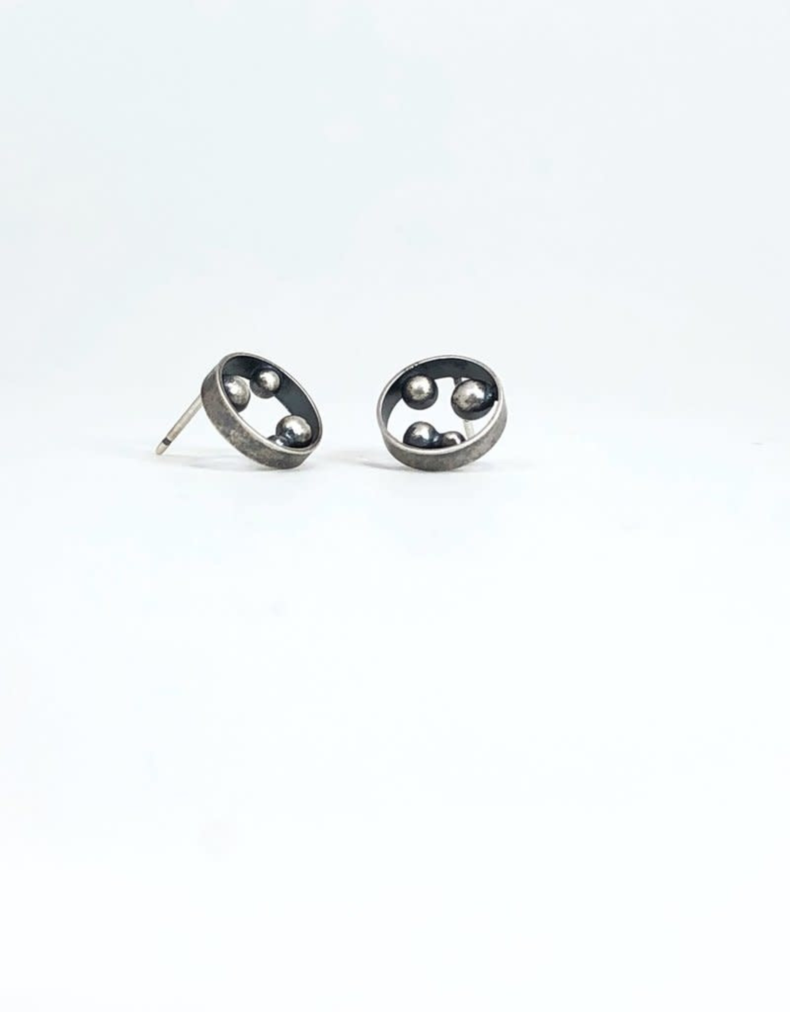 Ginger Meek Allen Container Studs- Oxidized Sterling Silver