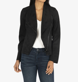 KUT from the kloth Carina Faux Suede Drape Moto Jacket