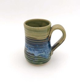 Mosquito Mud Pottery Tall Stoneware Mug - Green