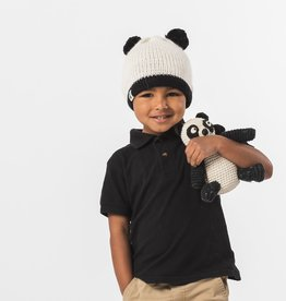 known supply Panda Bear Children's Basic Knit Hat w/ Pom Poms