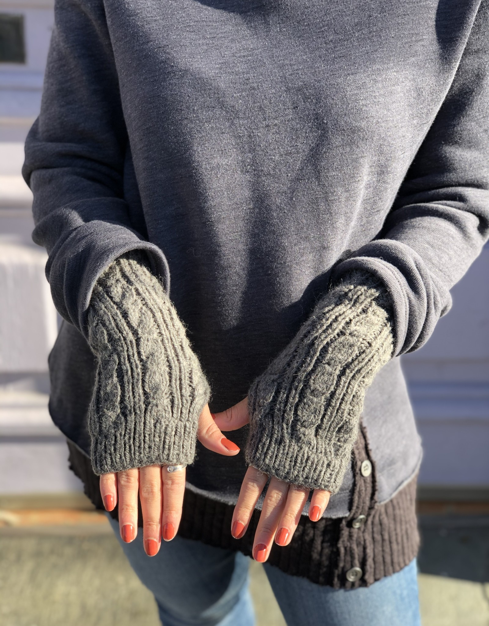 known supply Alexa Women's Cable Knit Gloves- Heather Grey O/S