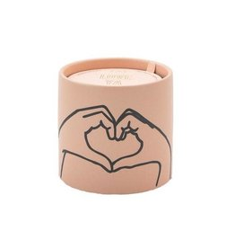 "Paddywax Impressions 5.75 oz. Dusty Pink Ceramic w/ ""Heart"" Tobacco & Vanilla Candle"