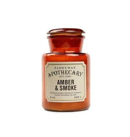 Paddywax Apothecary 8 oz. Glass Candle- Amber & Smoke