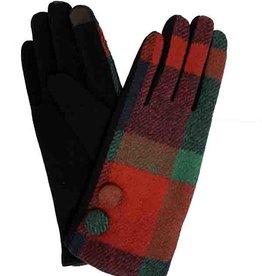 J & X International Plaid Texting Gloves