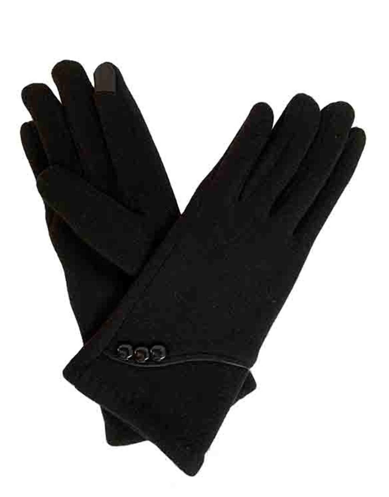 J & X International Lux Curve-Trim 3 Button Gloves