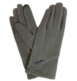 J & X International Lux Curve-Trim 3 Button Gloves