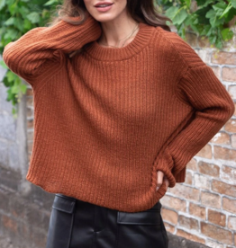 Wooden Ships Sara Crop Rib Top Sweater