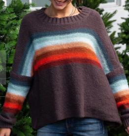 Wooden Ships Desert Stripe Slouchy Crew Sweater