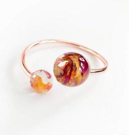 Belart Eco-Resin Rose Petal 2 Spheres Bracelet