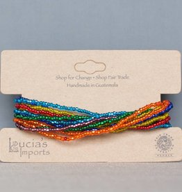Rainbow 12 Strand Beaded Bracelet