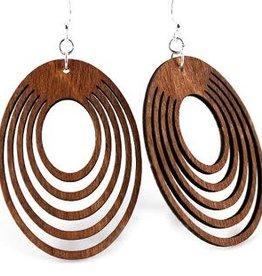 Green Tree Jewelry Oval Offset Earrings