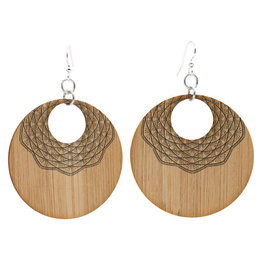 Green Tree Jewelry Mandala Bamboo Earrings