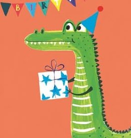 Notes & Queries Happy Bday Alligator Card