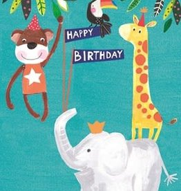 Notes & Queries Happy Bday Animals Card