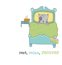 Notes & Queries Rest Relax Rec Card