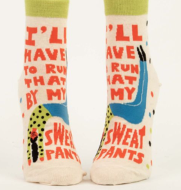 Blue Q I'll Have to Run That By My Sweatpants Women's Ankle Socks
