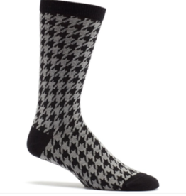 Ozone Designs Houndstooth (Mens) Socks-Black