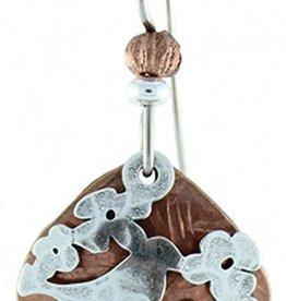 Earth Dreams Bird on Cherry Blossom Earrings