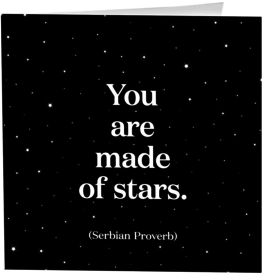 Quotable Cards Made of Stars- Thank You Card