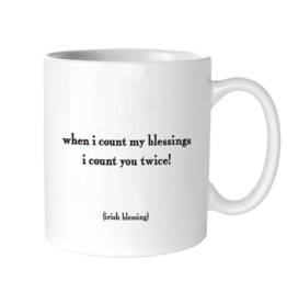 Quotable Cards Count My Blessings Ceramic Mug
