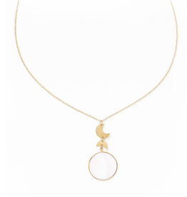 Matr Boomie Rajani Necklace-Pearl Round Pendant