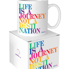 Quotable Cards Life Is A Journey Ceramic Mug
