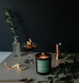 LIT LAB Co. Woody Leather + Brandy Soy Wax Candle