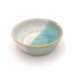 Mosquito Mud Pottery Stoneware Condiment Bowl- Aqua