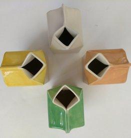 Donna's Hands Ceramic Milk Carton