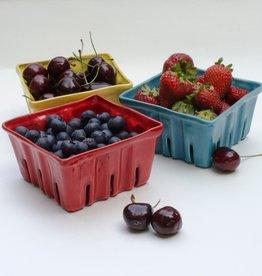 Donna's Hands Ceramic Berry Basket