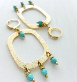 Brazed Brand Dangle & Drop Brass Beaded Earrings