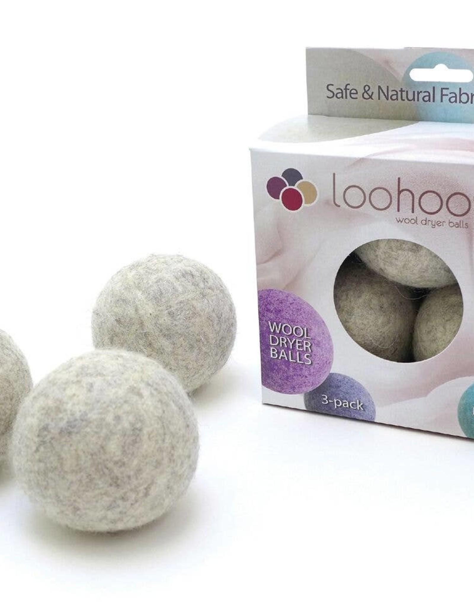 LooHoo Wool Dryer Balls Wool Dryer Balls - Pack of 3