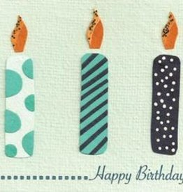 good paper Three Candles Card
