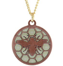 Earth Dreams Bee Royal Jelly- Copper and White Necklace